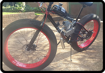 fat bike build motorised engine