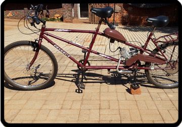 Peugeot tandem bike build
