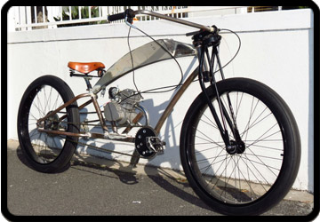 custom build Flywheel Custom Chariots motorised bike