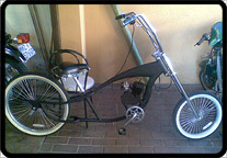joburg custom motorised chopper bicycle ecotrax