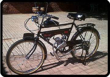 replica indian bike motorised
